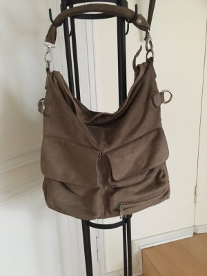 Liebeskind Crossbody bag grey brown leather