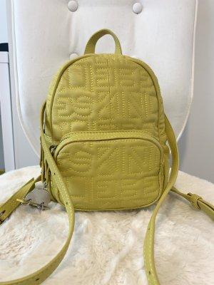 Liebeskind Mały plecak limonkowy żółty Skóra