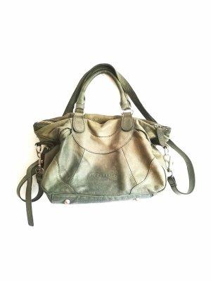 Liebeskind Crossbody bag khaki-olive green leather