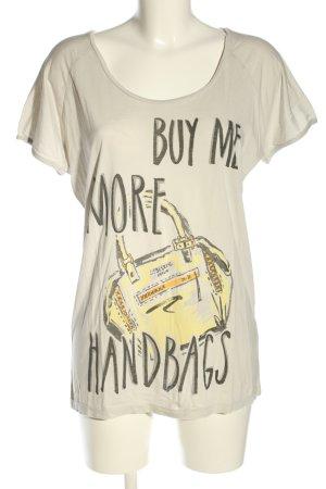 Liebeskind Koszulka z nadrukiem jasnoszary-bladożółty Nadruk z motywem