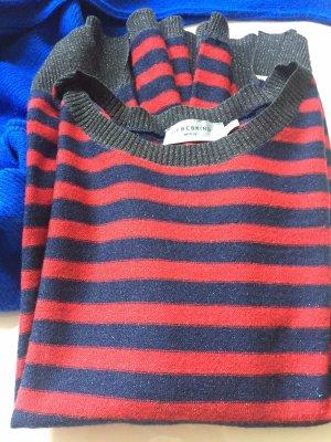 Liebeskind Maglione girocollo rosso-blu scuro