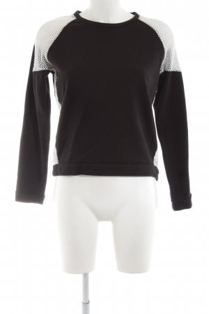 Liebeskind Crewneck Sweater black-white weave pattern casual look