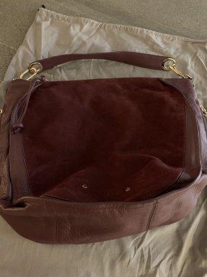 Liebeskind Shoulder Bag gold-colored-bordeaux leather