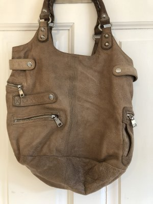 Liebeskind Shoulder Bag grey brown leather