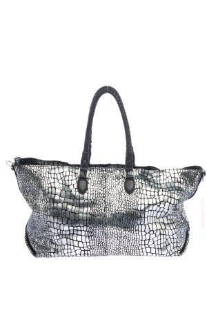 Liebeskind Shopper argenté-noir motif abstrait élégant