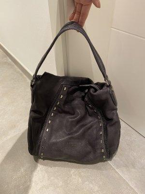 Liebeskind Shopper/Tasche aus Leder mit Nieten schwarz