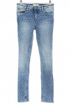 Liebeskind Skinny Jeans steel blue allover print casual look