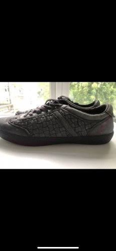 Liebeskind Lace-Up Sneaker grey-black leather