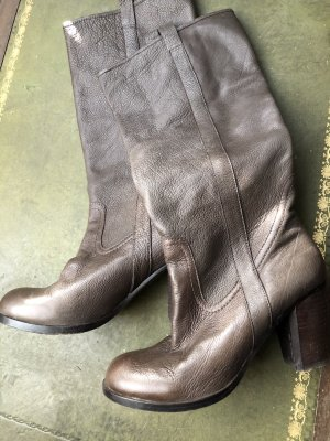 Liebeskind Botas con tacón marrón grisáceo Cuero