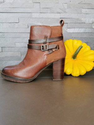Liebeskind Berlin Platform Booties brown leather