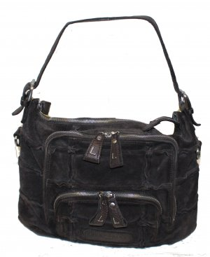 Liebeskind Handbag dark brown suede