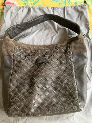 Liebeskind Handbag black brown-dark brown leather