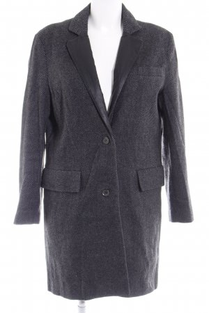 Liebeskind Between-Seasons-Coat black-grey zigzag pattern casual look