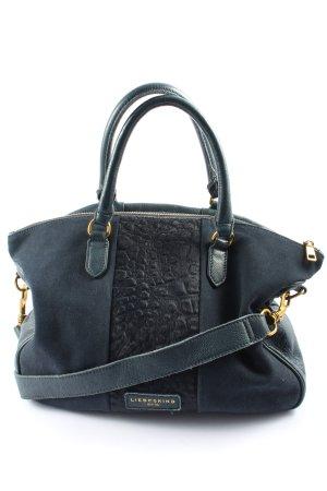 Liebeskind Gekruiste tas blauw-zwart dierenprint casual uitstraling