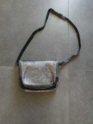 Liebeskind Umhängetasche Leder, Silber Fransen, w. NEU