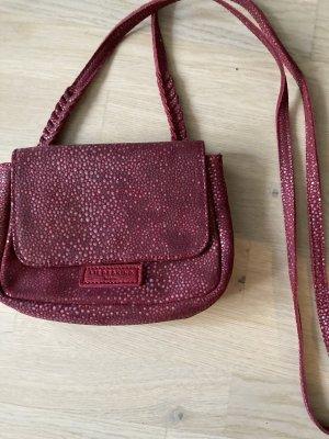 LIEBESKIND Umhängetasche rot-braun-violett Leder