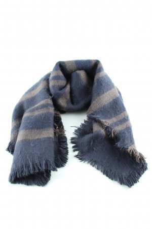 Liebeskind Woolen Scarf blue-cream striped pattern elegant