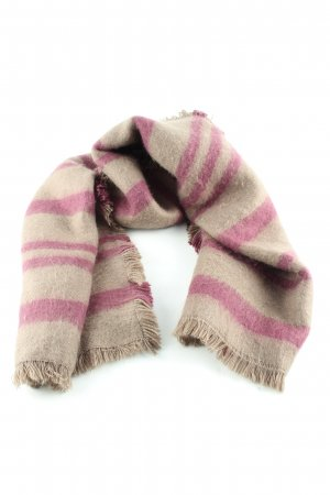 Liebeskind Woolen Scarf cream-pink striped pattern casual look