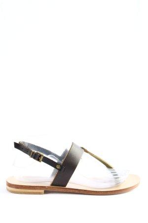 Liebeskind Toe-Post sandals black Rivet detail