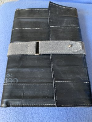 Borsa block notes grigio-nero Tessuto misto