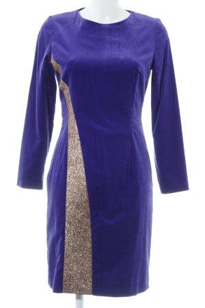 Liebig Etuikleid dunkelviolett-goldfarben Elegant