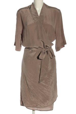 Liebig Robe portefeuille brun élégant