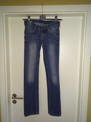 Mustang Jeansy z prostymi nogawkami niebieski