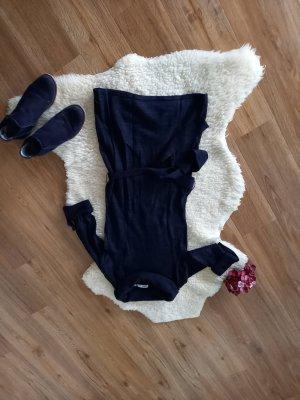 Garcia Vestido de tela de sudadera negro-gris pizarra