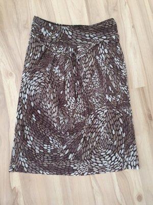 Esprit Spódnica midi szaro-brązowy-jasnobrązowy