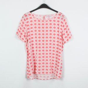 Lieblingsstück Bluse Gr. 36 weiß rosa gemustert (19/03/233/K)