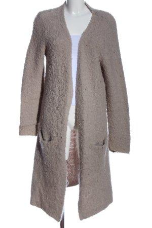 Lieblingsstück Manteau en tricot gris clair style décontracté