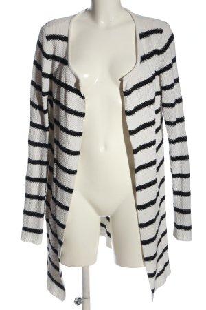 Lieblingsstück Cardigan weiß-schwarz Streifenmuster Casual-Look