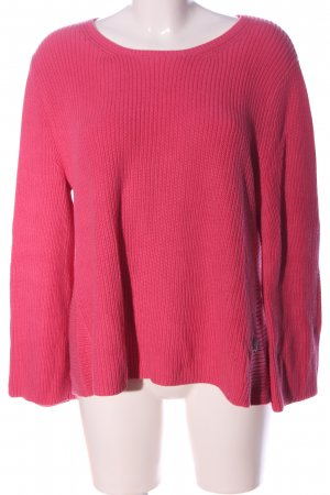 Lieblingsstück Coarse Knitted Sweater pink cable stitch casual look