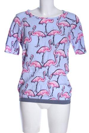Lieblingsstück Blouse Shirt blue-pink allover print casual look