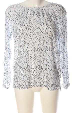 Lieblingsstück Long Sleeve Blouse white-blue allover print casual look