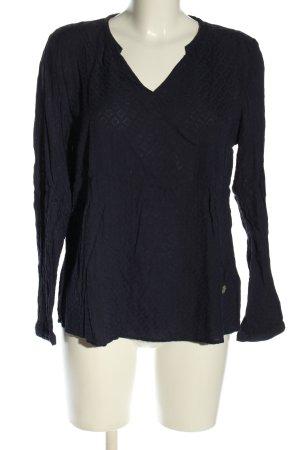 Lieblingsstück Langarm-Bluse blau grafisches Muster Casual-Look