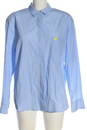 Lieblingsstück Long Sleeve Shirt blue-white striped pattern elegant