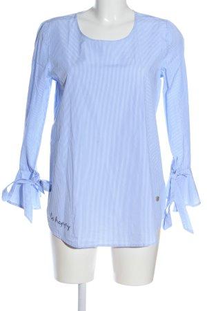 Lieblingsstück Long Sleeve Blouse blue-white striped pattern business style