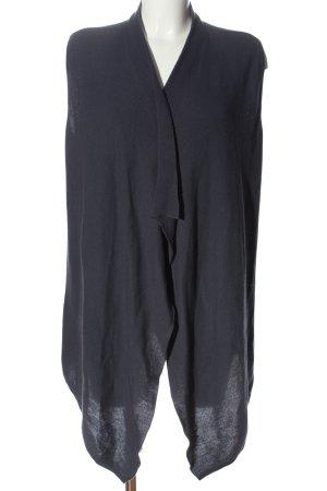 Lieblingsstück Gilet long tricoté bleu style décontracté