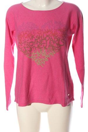 Lieblingsstück Crewneck Sweater pink printed lettering casual look