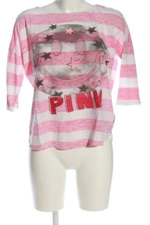 Lieblingsstück Schlupf-Bluse weiß-pink Allover-Druck Casual-Look