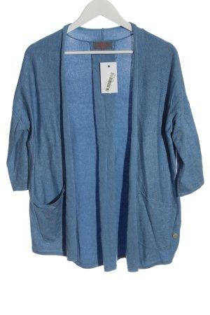 Lieblingsstück Strick Cardigan blau meliert Casual-Look
