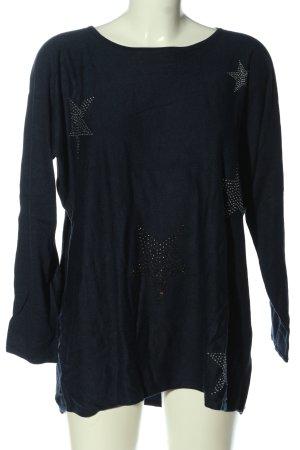 Lieblingsstück Knitted Sweater blue abstract pattern casual look