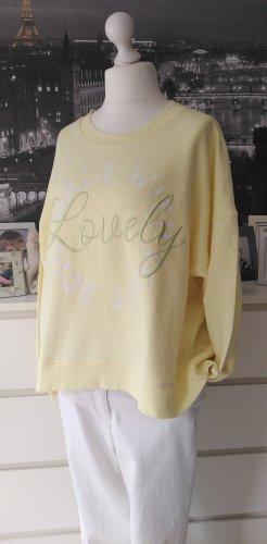 Lieblingsstück * Süßer Rundhals Sweater LOVELY * gelb mintgrün * XXL=44/46