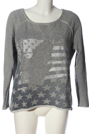 Lieblingsstück Sweat Shirt light grey themed print casual look