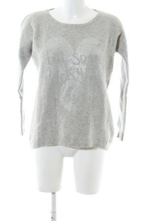 Lieblingsstück Pull en laine gris clair moucheté style décontracté