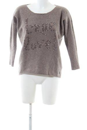 Lieblingsstück Jersey de lana marrón moteado look casual