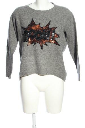 Lieblingsstück Wool Sweater light grey flecked casual look