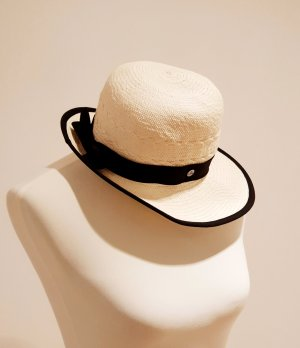 Cappello di paglia crema-giallo chiaro