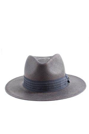 lierys Sombrero de ala ancha gris claro-azul look casual
